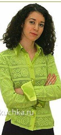 Как спасти старую блузку с помощью филейного вязания? Очень просто.