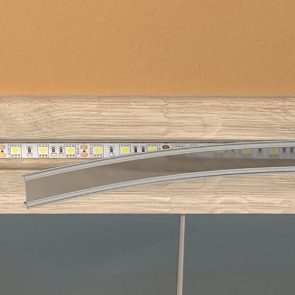 Подсветка плинтуса светодиодной или люминесцентной лентой с датчиком света и движения