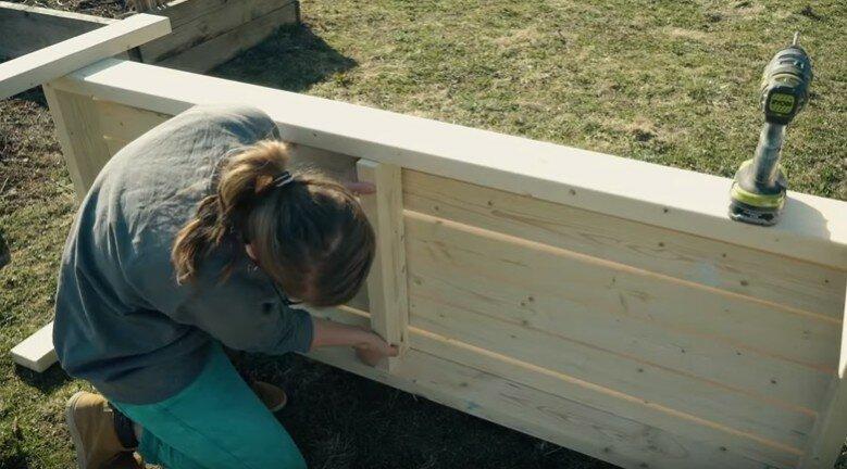 Садовая скамейка для дачи своими руками