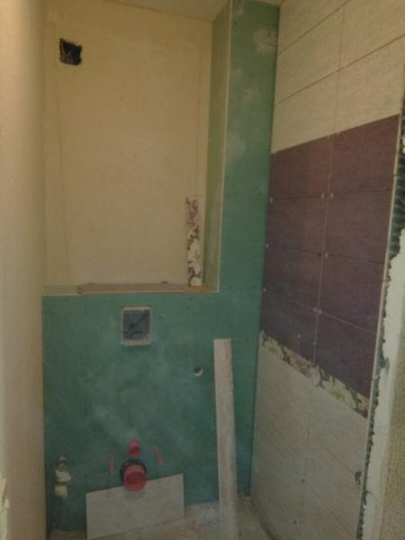Сделали ремонт в туалете и ванной. И здесь всего лишь 6 кв.метров! Фото до и после перевоплощения