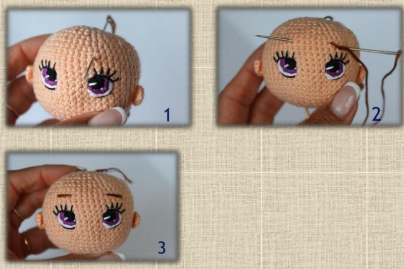 Вязаная кукла крючком: много фото
