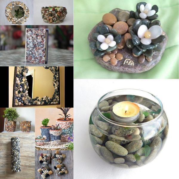 Декор камнями для интерьера