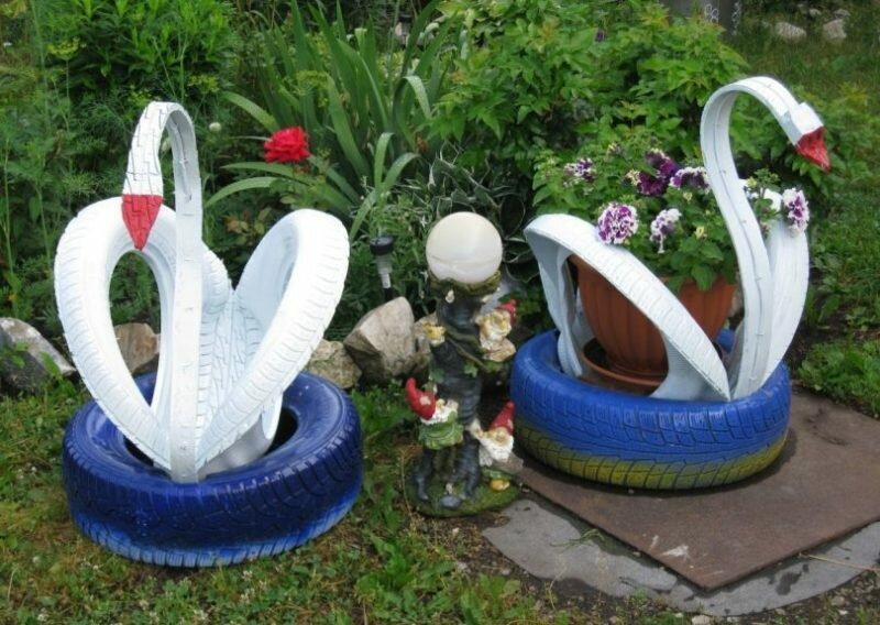Делаем садовые скульптуры своими руками из подручных материалов