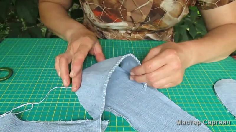 Домашние тапочки из старых джинсов на скорую руку