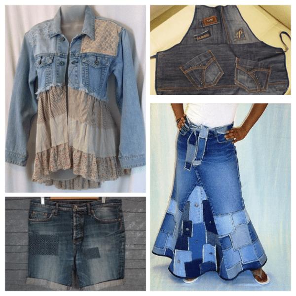 Хэнд-мейд из старых джинсов. Часть 2.