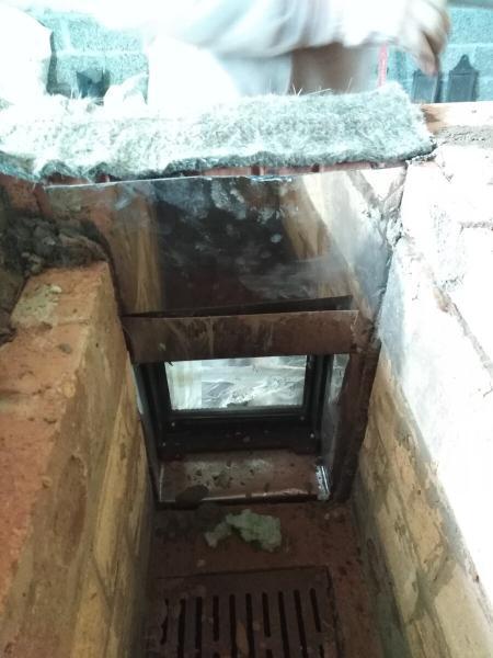 Как устранить трещины над топочной дверкой