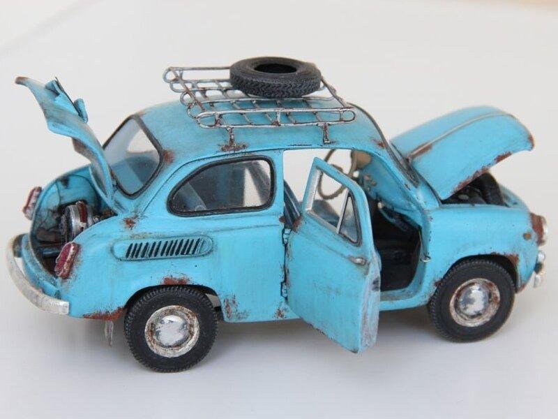 Моделист решил своими руками создать модель автомобиля ЗАЗ 965 «Запорожец». Обзор модели
