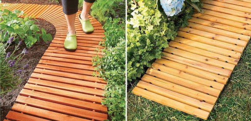 Парень смастерил рулонную дорожку для сада - летом стелет, зимой сворачивает. Удобно и практично