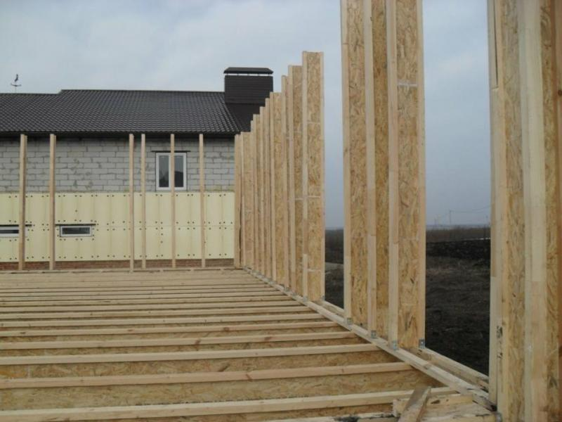 Каркасный дом из деревянных двутавровых балок. Балки своими руками: 150 рублей за погонный метр