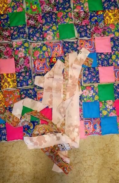 """Лоскутное одеяло из блоков. Часть 2. Сшиваем блоки в """"ленты"""""""
