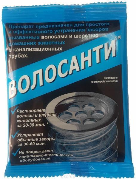 Sviti Антизасор средство прочистки засора сантехнических труб в ванной