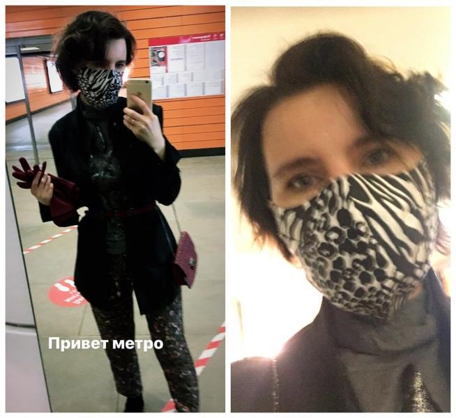 Попыталась сшить модную маску вместо обычной. Показываю, что у меня получилось в итоге