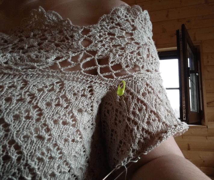 Вяжу себе платье. Делюсь схемами узоров, хотя идея уже тоже вырисовывается