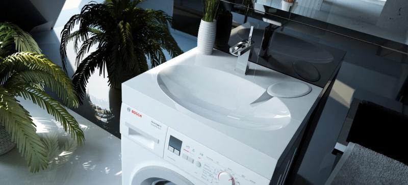 Чего не надо бояться с раковиной над стиральной машиной: высота, брызги и другое