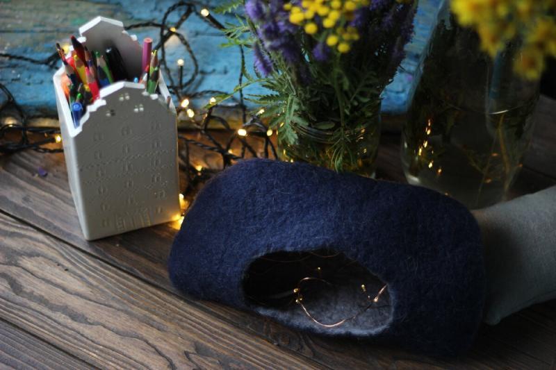 Домик для крысы или хомячка своими руками. Мастер-класс для новичков - как свалять шерстяной домик/норку по-мокрому.