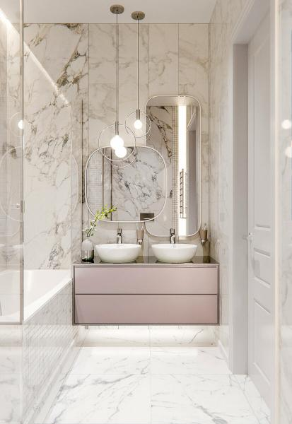 Как сделать белую ванную комнату эффектной и стильной