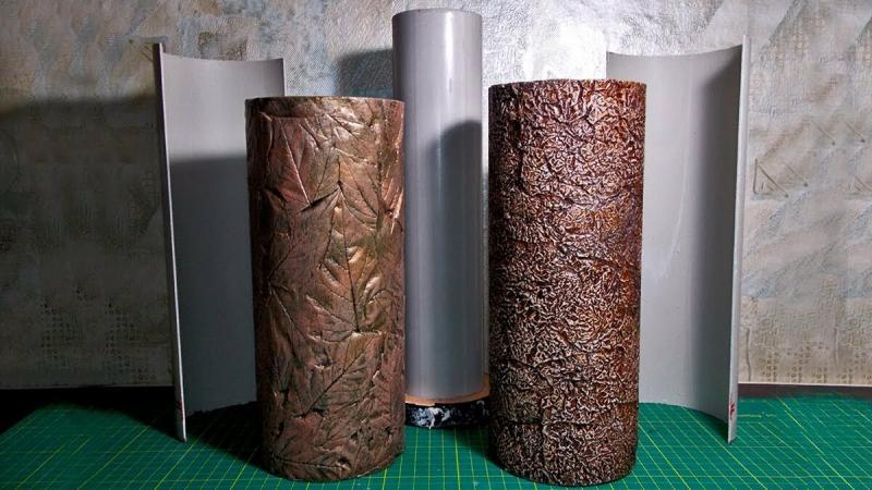 Простой способ сделать форму для литья ваз из кусков пластиковой трубы