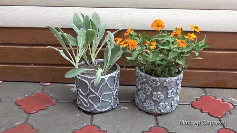 Завалялись пара пластиковых ведер и мы реализовали 2 простые идеи для сада