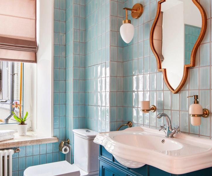 Большое превращение маленькой ванной комнаты