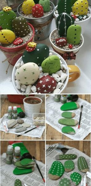 Даже обычные камни в руках творческого человека превращаются в красивые и забавные элементы декора: 22 идеи для вдохновения