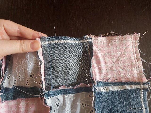 Если у вас есть старые вещи и швейная машинка - вам больше ничего не понадобится. Накидка для стула своими руками.