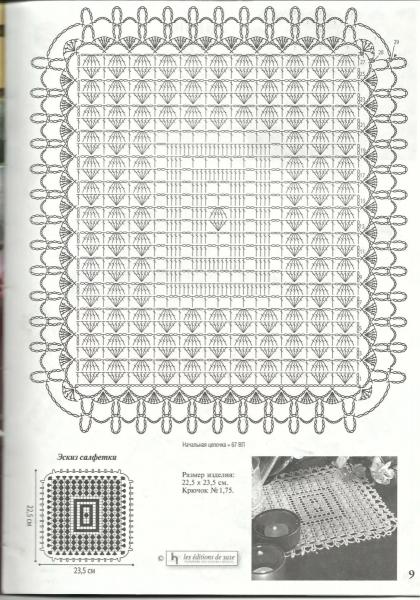 """""""Идеальное решение!"""", - квадратные салфетки крючком со схемами"""