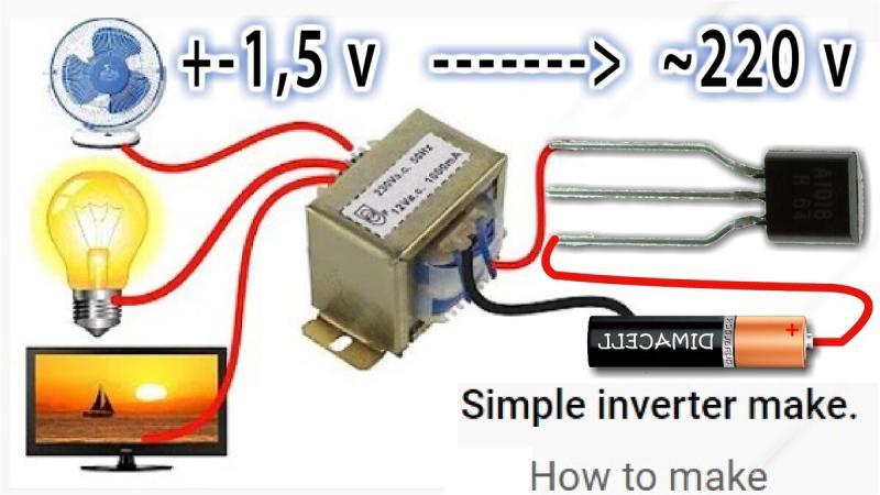 MICRO INVERTER 1,5V DC to 220V AC Из телефонного Зарядника