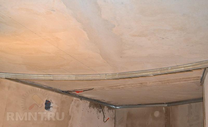 Монтаж двухуровневого потолка из гипсокартона своими руками