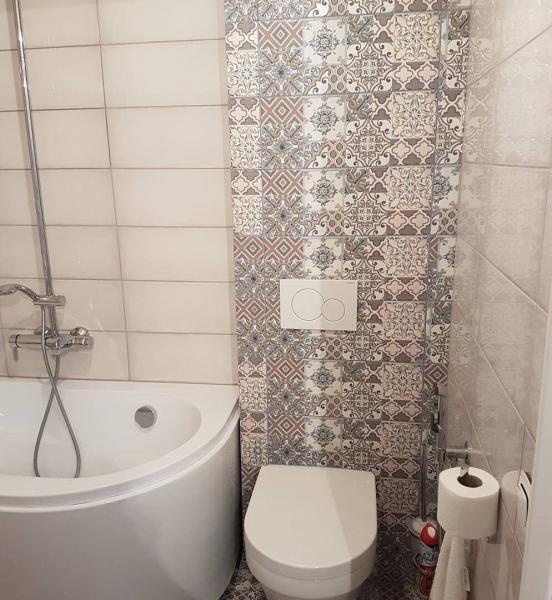 Совместил туалет с ванной, показываю,как все расположил! До/после.
