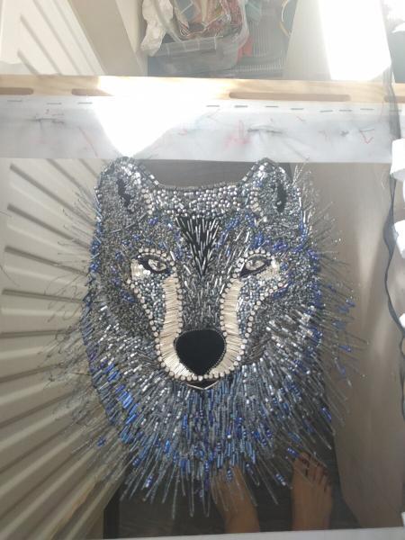 Заказ на эксклюзивную вышивку волка. Как мне пришлось переделывать работу и почему я этому рада? Часть 3