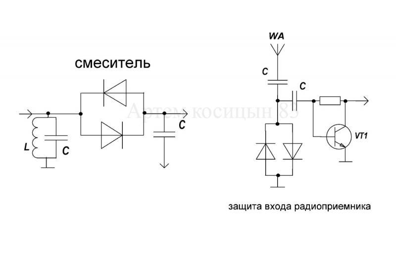 Для чего нужно встречно-параллельное подключение двух диодов.