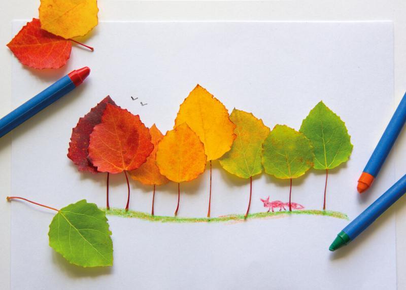 Листья, жёлуди, каштаны: идеи простых осенних поделок