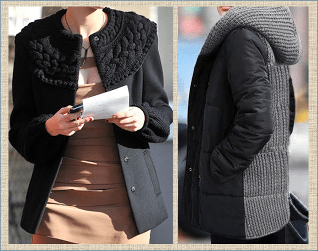Осенняя переделка пальто своими руками - эффектно и интересно простыми приемами - часть 2