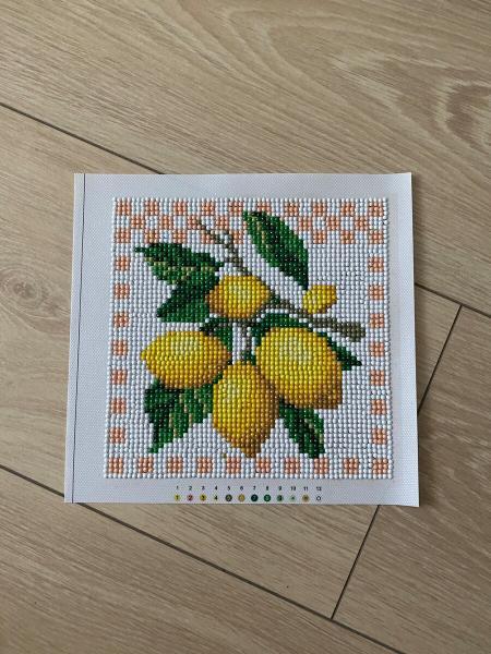 Потрясающие лимоны. Алмазная вышивка из фикс прайс и мое новое ее применение.