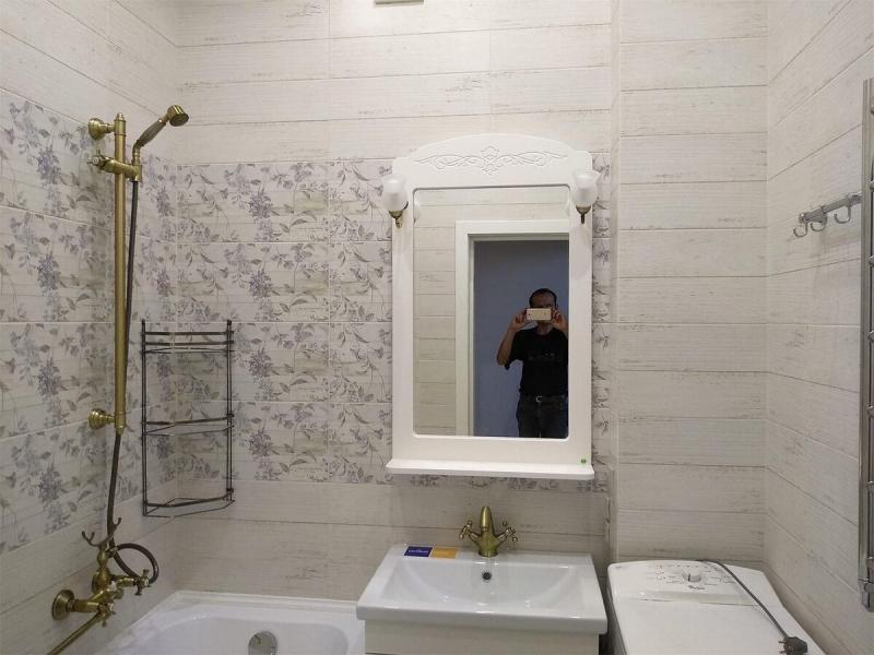 Простой и лаконичный дизайн ванной комнаты в светлых тонах. Показываю,что получилось!