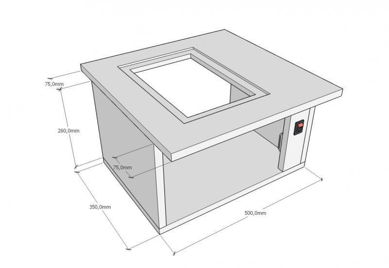 Распиловочный станок на базе ручной циркулярной пилы (с размерами)