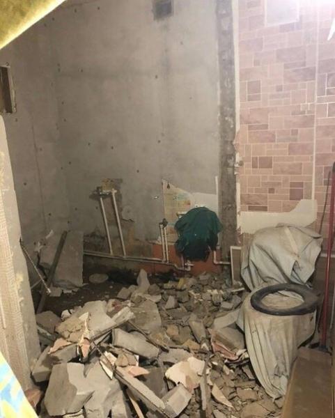 Разломал туалет с ванной,показываю, что получилось! Фото До/после.