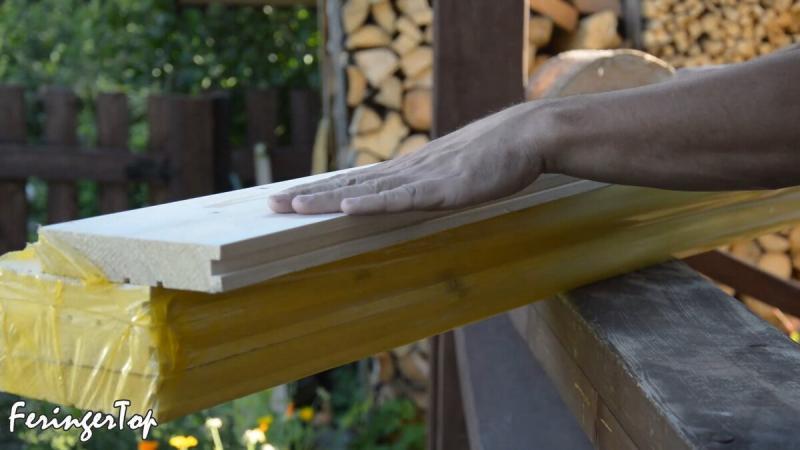 Сделал красивую дверь для бани своими руками из шпунтованной доски. Обошлась в 1300 рублей
