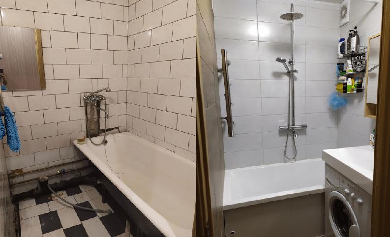 Убитые ванные: ДО/ПОСЛЕ. Показываю классные переделки маленьких ванных