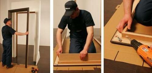 Установка дверей своими руками пошаговая инструкция.