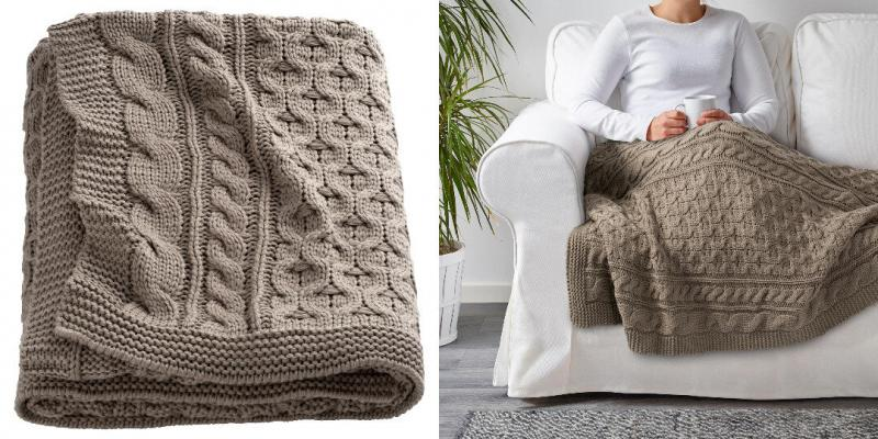Утепляемся: 9 пледов и одеял из ИКЕА, которые стоят дешево, а выглядят красиво