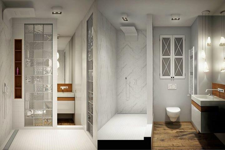 7 лучших дизайнов ванной комнаты с душевой