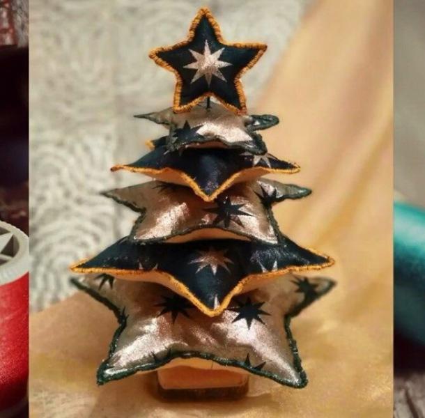 Поделки из ткани на Новый год: быстро, просто и со вкусом