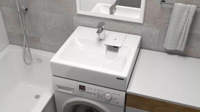 Устанавливаем раковину над стиральной машиной в 4 этапа