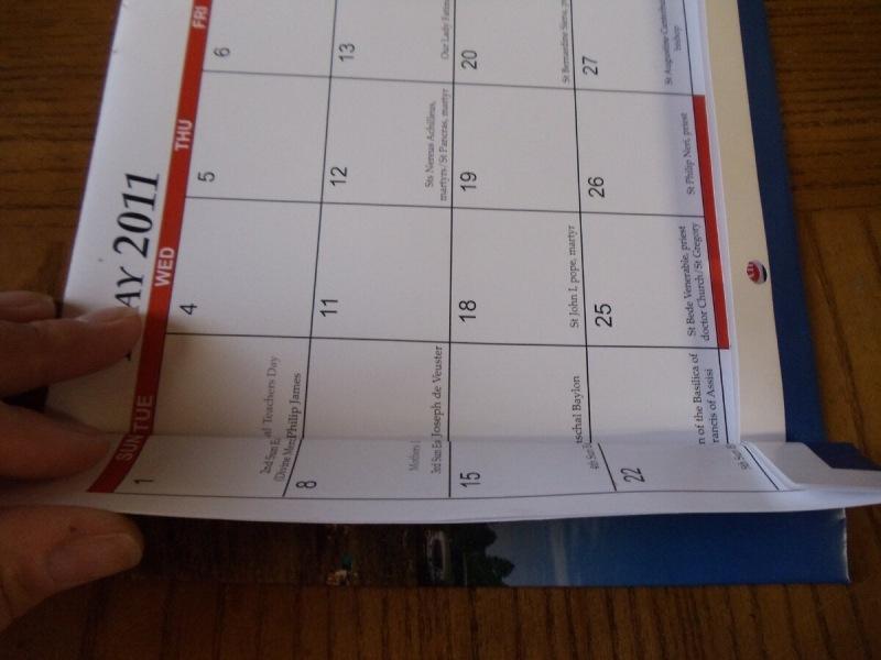 Не выбрасывайте старые календари, они вам еще пригодятся :)