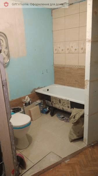 Первый раз вижу такой глобальный ремонт ванной и без душевой кабины. Было и Стало