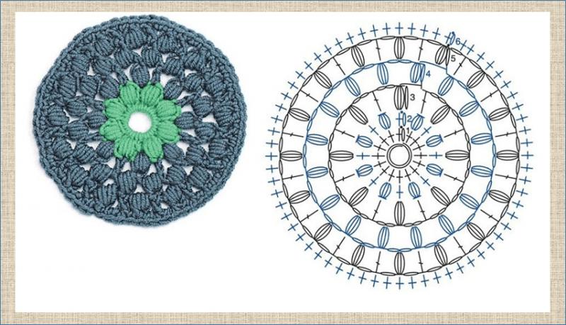 Круглые мотивы крючком - 60 образцов с отличными схемами - в копилку мастерицы