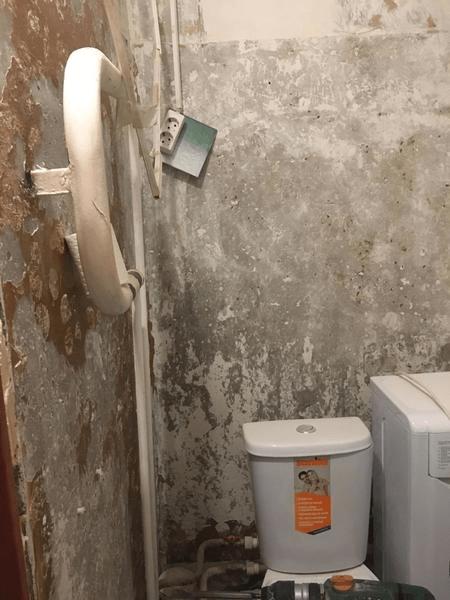 """Всем владельцам маленьких санузлов можно перенять """"фишку"""" из этой ванной. Поместили все. Реальные фото Было и Стало"""