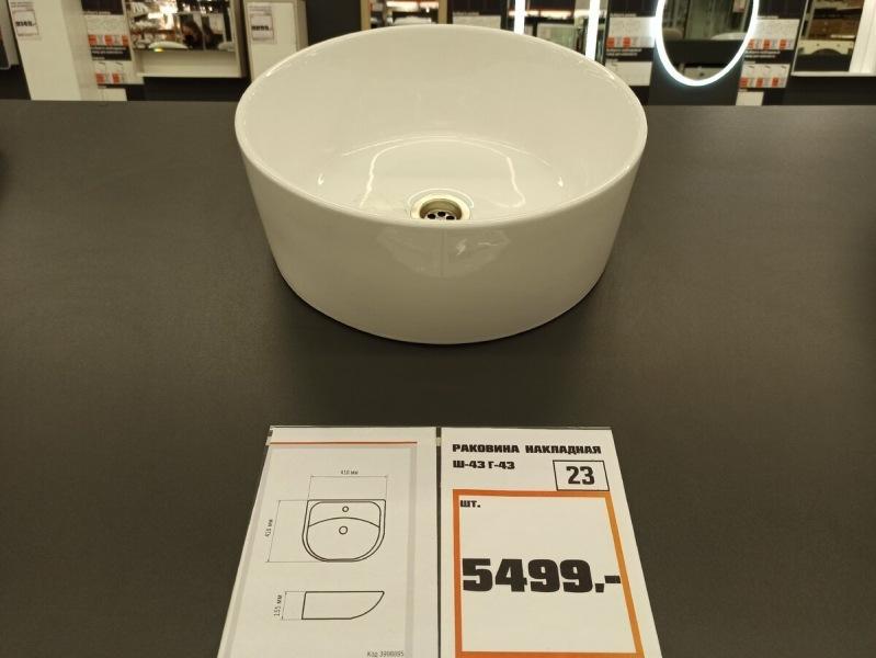 Выбираем накладную раковину для ванной