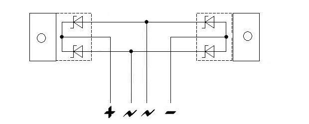 Диодный мост из сдвоенных диодов Шоттки, - легко!